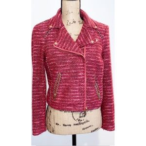 JUICY COUTURE Pink Tweed Jacket Sz. Small
